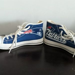 New England Patriots high top sneakers